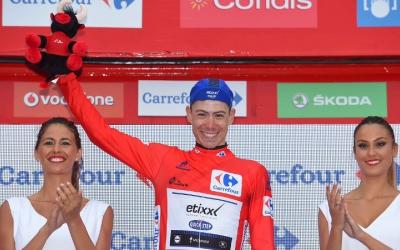 David de la Cruz de líder a l'edició de l'any passat de la Vuelta