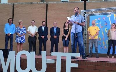 L'alcalde, Maties Serracant, durant el discurs | Sergi Garcés