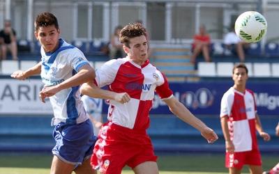 Imatge d'un partit de pretemporada del juvenil contra l'Europa | Àngel Garreta