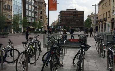 Les escales per baixar a l'estació Sabadell Plaça Major