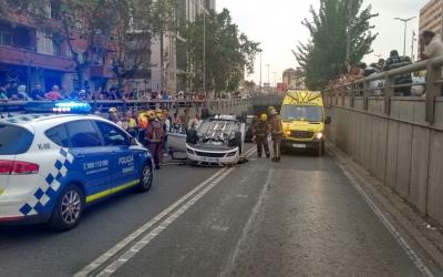 Un accident de trànsit a la Gran Via | Policia Sabadell