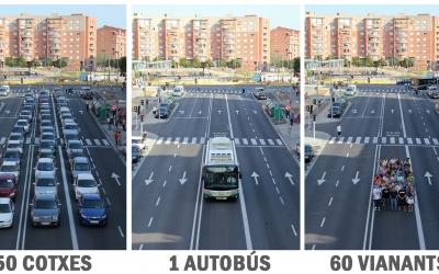 Imatge de la PTP, que recull les alternatives al vehicle privat. Foto: Xavier Lujan.