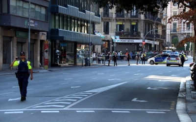 Un agent treballant a Barcelona | ACN