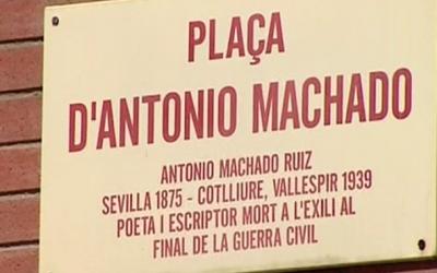 Placa del carrer d'Antonio Machado