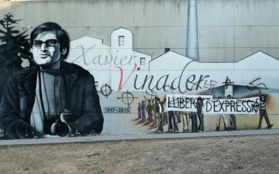 La darrera agressió al mural a Xavier Vinader