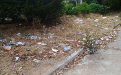 La brutícia era evident en alguns punts del barri