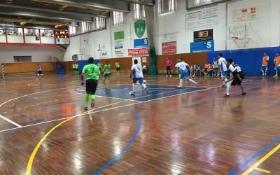 Imatge del partit de la primera jornada entre Pia i CNS