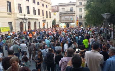 Aspecte de la plaça de Sant Roc a l'inici de la concentració | Pau Duran