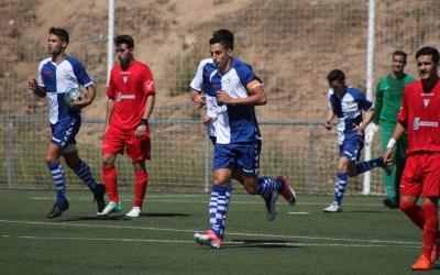 El golejador Sergi Estrada després d'anotar l'empat a 1 | Sandra Dihör