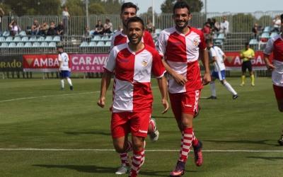 Felipe Sanchón celebrant el seu gol a Saragossa | Sendy Dihor