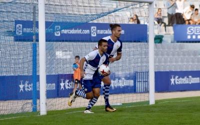 Arthuro i Felipe Sanchón celebren el primer gol arlequinat | Sendy Dihör