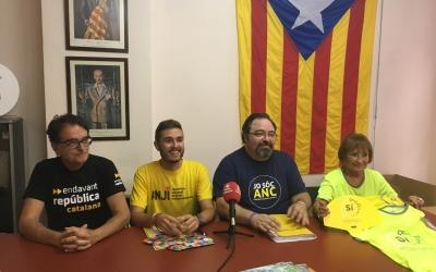 Els membres de Sabadell per la Independència aquest matí | Mireia Sans
