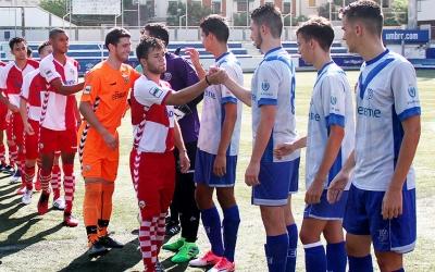 Els jugadors del juvenil en un partit de pretemporada contra l'Europa | Àngel Garreta