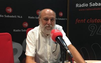 Ramon Ten als estudis de Ràdio Sabadell | Mireia Sans