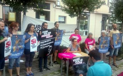 Els membres de la campanya han presentat aquesta tarda el seu programa d'actes/ Cedida