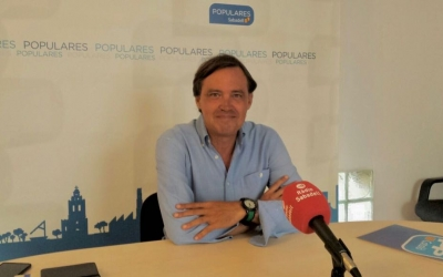 Esteban Gesa a la roda de premsa   Pau Duran