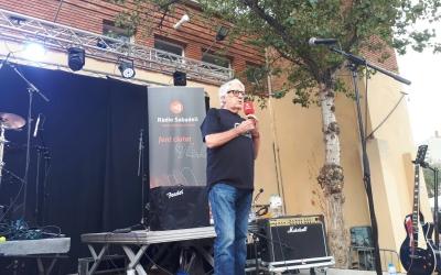 Pere Massagué, responsable del Xocolata Express especial, sobre l'escenari