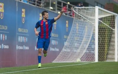 Jérémy Guillemenot en un partit amb el Juvenil del FC Barcelona