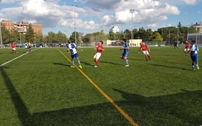 Imatge del partit entre el juvenil del Sabadell i la Damm 'B'