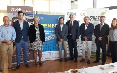 Els organitzadors de l'Open durant l'acte de presentació de la 25a edició | Pere Figueras
