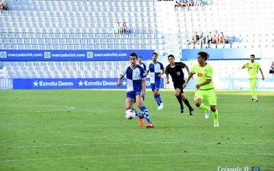 Pedro Capó en acció contra l'Elche en el partit de la primera jornada | Críspulo D.