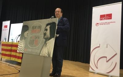 Miquel Iceta ahir al Centre Cívic de Can Rull | Marc Pijuan