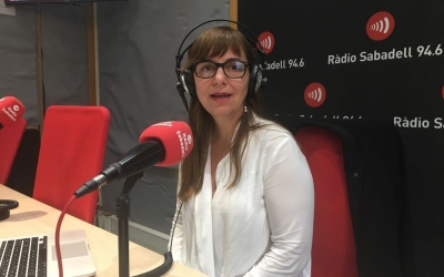 Virgínia Luzón, a Ràdio Sabadell | Mireia Sans
