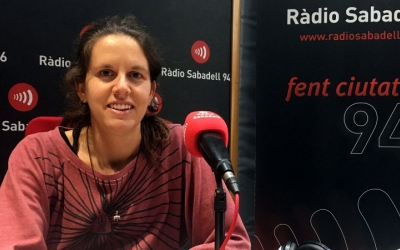 Míriam Ferrándiz, als estudis de Ràdio Sabadell/ Ràdio Sabadell