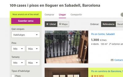 Cerca de pisos de lloguer a Sabadell | Captura