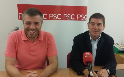 Els regidors socialistes a la roda de premsa d'avui | Pau Duran