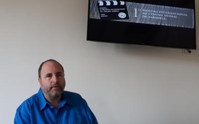 Miquel Soler, durant la presentació de la Mostra de Cinema Animal/ Karen Madrid