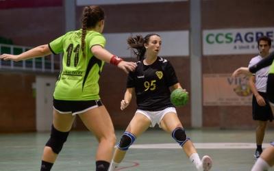 Claudia Marrugat en un moment de l'últim partit