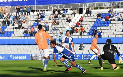 Gai Assulin celebrant el primer gol del partit | Críspulo D.