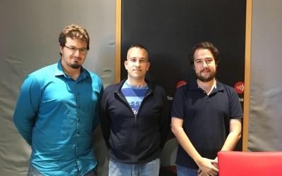 David Matanza (Eurek Technologies), José Antonio Ruiz (Solucions geogràfiques) i el regidor Edu Navarro.