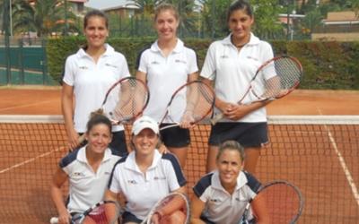 Equip femení del Tennis Sabadell la temporada passada