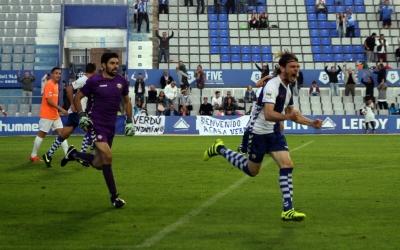 Migue García celebrant el 2-2 definitiu al costat de Roberto | Sandra Dihor