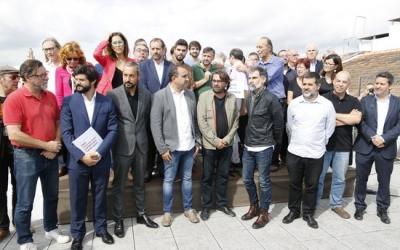 Integrants de Taula per la Democràcia de Barcelona el passat 27 de setembre. Foto: ACN Autor: Josep Ramon Torné