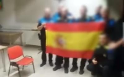 Captura del vídeo publicat pels agents de la Policia Municipal. Font: Youtube.