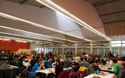 La Sala Polivalent del Parc del Nord durant una edició de les 24 hores de jocs. Foto: El Refugio del Sátiro
