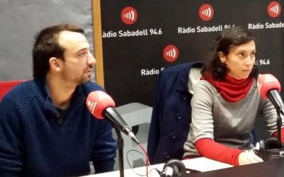 Vicens i Montlló, als estudis de Ràdio Sabadell/ Ràdio Sabadell