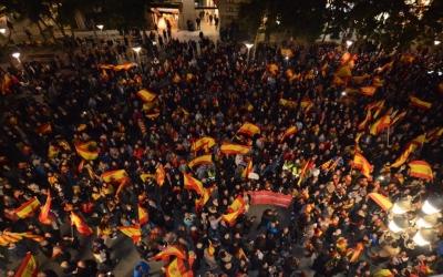 Concentració de Societat Civil Catalana a la Plaça de Sant Roc | Roger Benet