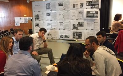 Imatge d'un moment dels tallers Triangulum a la Biblioteca Vapor Badia | Foto: Ràdio Sabadell