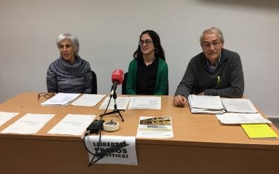 Roda de premsa de la Crida per Sabadell parlant de sobirania alimentària. | Foto: Ràdio Sabadell
