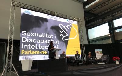 """Ponència sobre """"Sexualitat i discapacitat. Foto: Cristina Martínez @cmartinezbu"""