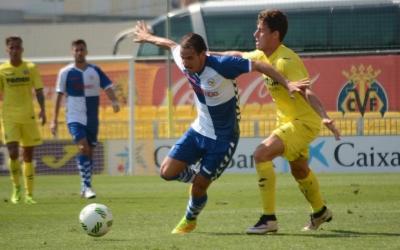 Imatge del partit entre Villareal B i Sabadell al Mini Estadi