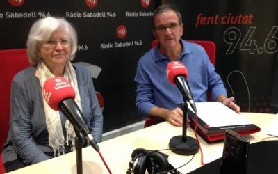 Ferran Escala, delegat del Banc dels Aliments, i Àngela Raurell, vountària del Gran Recapte.