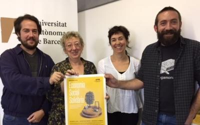 Navarro, Estapé, Garcia i Griera durant la presentació del postgrau d'Economia Social i Solidària de a UAB| Foto: Ràdio Sabadell