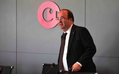Miquel Iceta, en la seva visita a la Cambra de Comerç de Sabadell. Foto: Roger Benet
