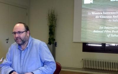 Miquel Soler, durant la presentació de la Mostra de Cinema Animal/ Arxiu Ràdio Sabadell