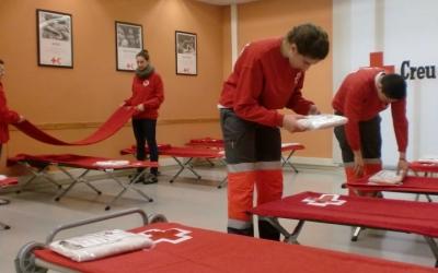 Creu Roja posa a disposició dels sense llar deu places durant l'Operació Fred/ Creu Roja Sabadell